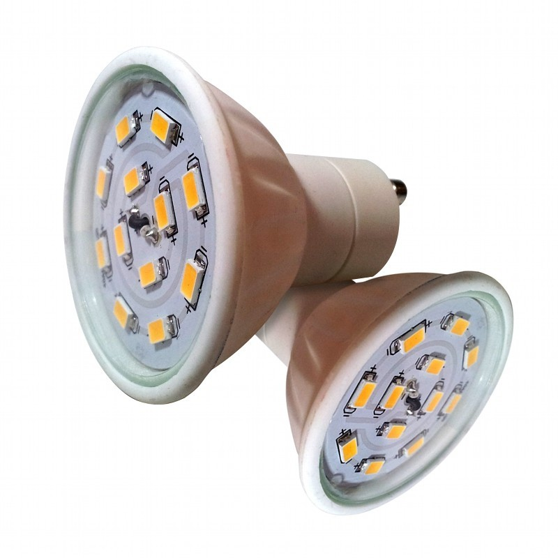 lot 2 ampoules led gu10 5w life in led. Black Bedroom Furniture Sets. Home Design Ideas