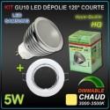 Lot 10 spots encastrés orientables + GU10 5W led SAMSUNG