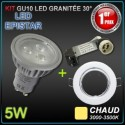 Lot 10 spots encastrés orientables + GU10 5W led EPISTAR