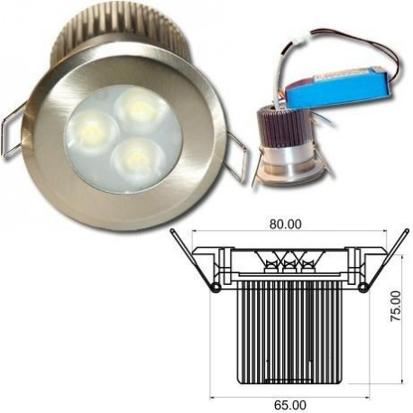 Spot led encastrable 9w salle de bain life in led - Spot led encastrable salle de bain ip65 etanche ...