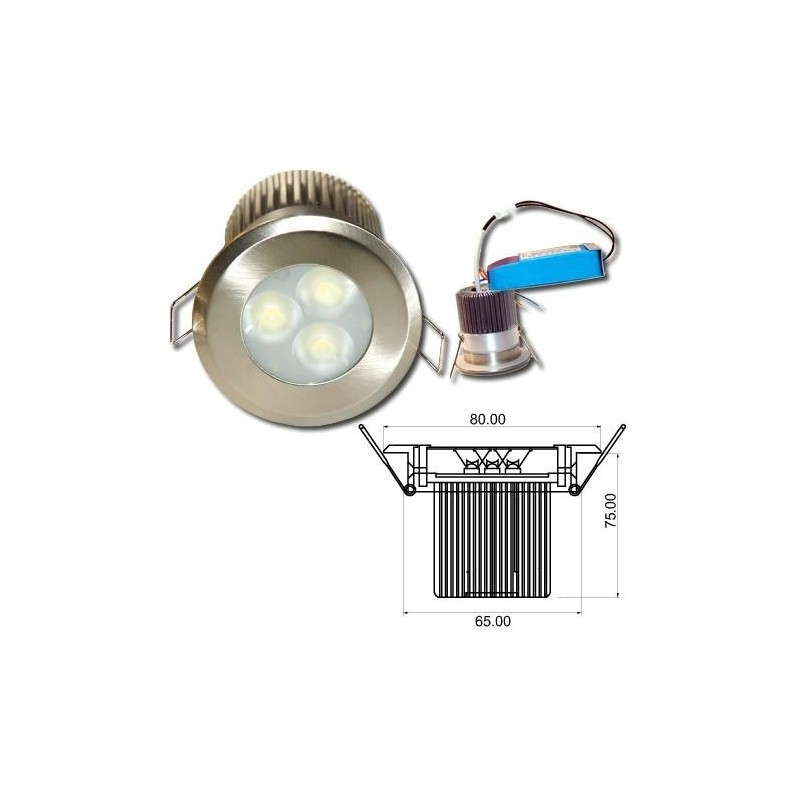 Spot led encastrable 9w salle de bain life in led - Spot led encastrable plafond salle de bain ...