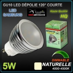 Ampoule LED GU10 5W dimmable Samsung