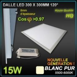 DALLE LED 15W 300x300 Blanc pur