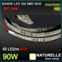 Bande LED 300 SMD 5630 90W 24V lum naturelle