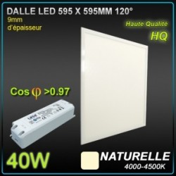 DALLE LED 40W 595x595 4200K BLANC NEUTRE
