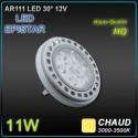 AR111 LED EPISTAR 11W 12V CHAUD