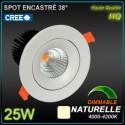 Spot 25W LED CREE 4000k 2600lm 38°