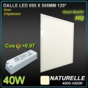 LOT 5 DALLES LED 40W 595x595 4200K BLANC NEUTRE