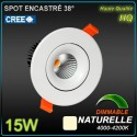 Spot 15W LED CREE 4000k 1360lm 38°