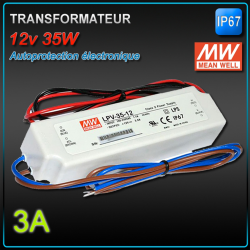 ALIMENTATION ELECTRONIQUE MEANWELL Série LPV 20 à 150W