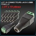 Fiche Jack DC 5.5mm Mâle / Femelle