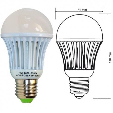 Ampoule LED E27 7W MCOB