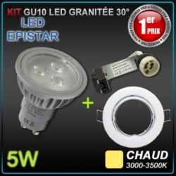 Lot 10 spots encastrés orientables + GU10 5W led EPISTAR
