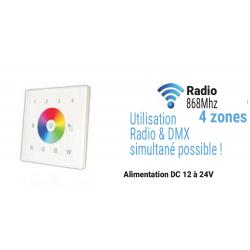 Télécommande murale Radio RGBW
