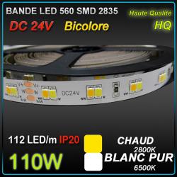 RUBAN LED BICOLORE CHAUD-BLANC 110W
